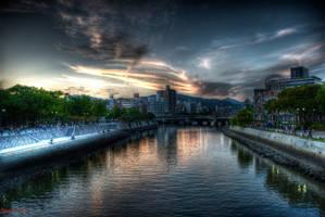 Sunset In Hiroshima by azmodeuz6