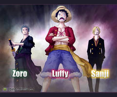 The Strongest Three_One Piece by FajerPS