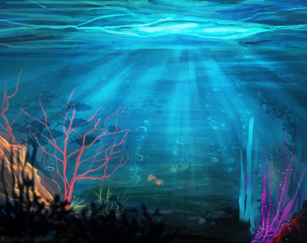 Underwater Landscape by KT-ExReplica on DeviantArt