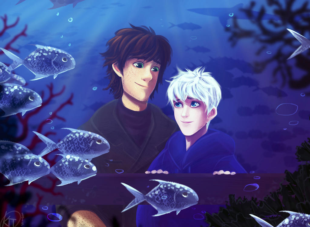 Hiccup and Jack got to an Aquarium by KT-ExReplica