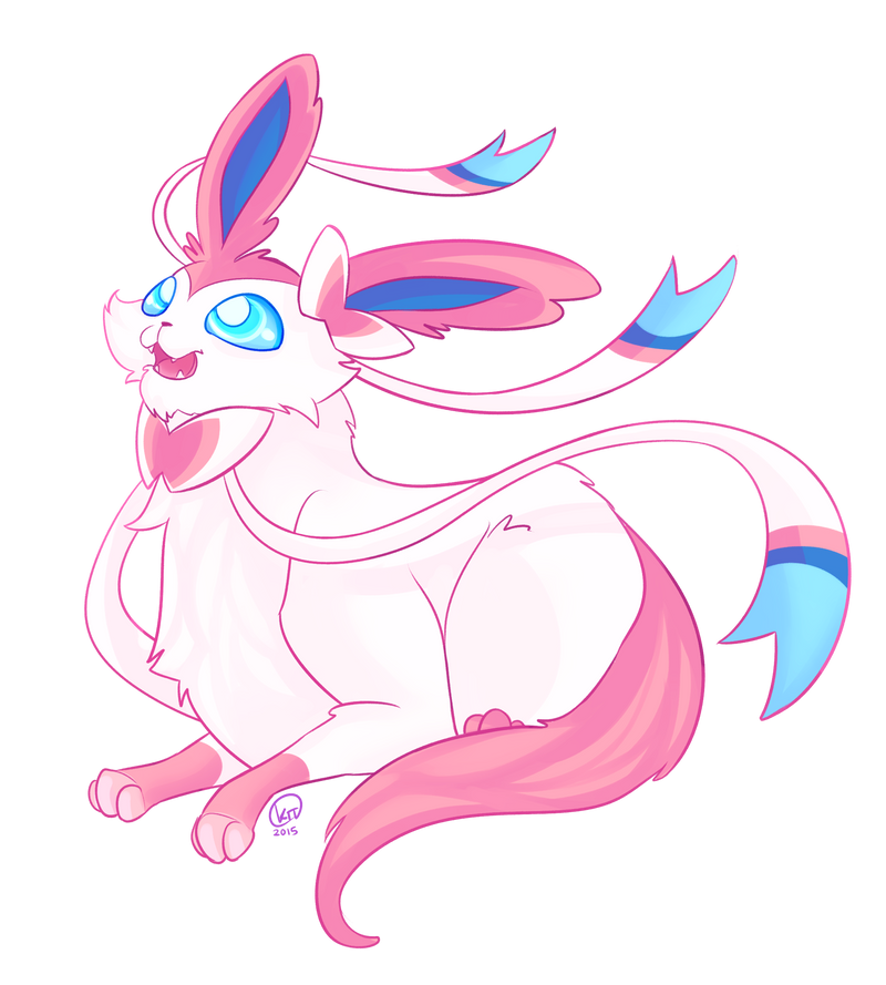 Sylveon Stickers for Sale! by KT-ExReplica