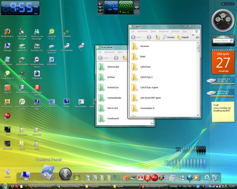 My desktop XP - 27 April 2008 by Saby24