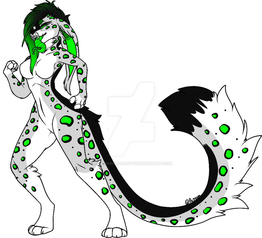 Snow Leopard Anthro Adopt (closed) by Rhapsodize-Adopts on