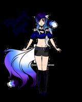 Starry Night Kitsune Auction Adopt (closed)