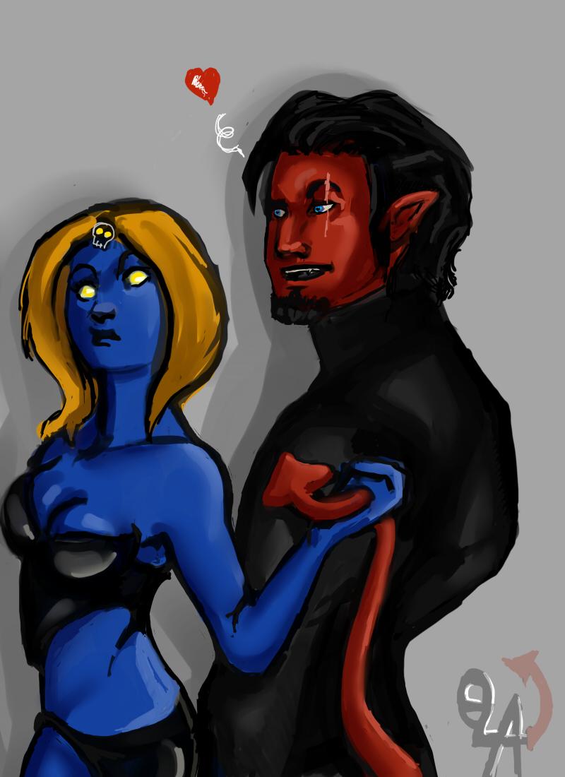 Azazel and mystique by Kafary on DeviantArt