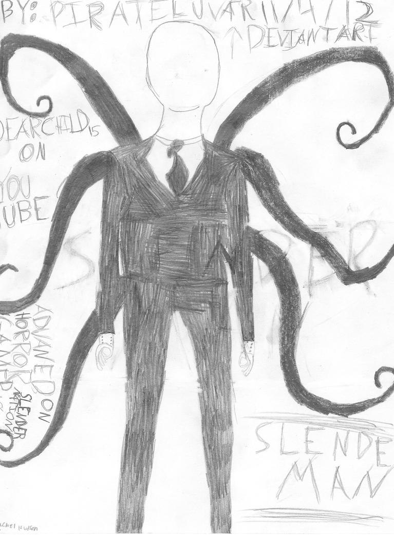 Slender Drawing by pirateluvar