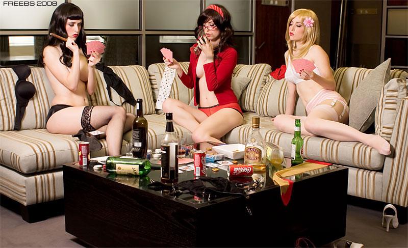 Drunk naked military girls