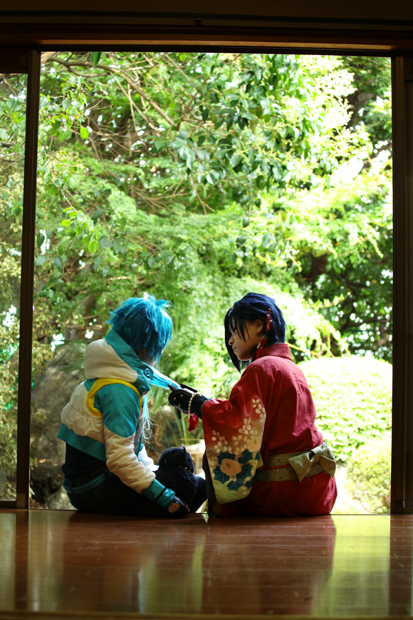 DRAMAtical Murder Koujaku and aoba 2 by azuooooo