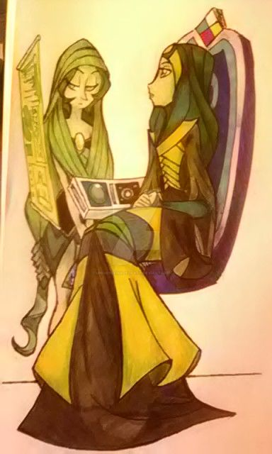 Jade and her Pearl 1 by universeMadeofArt
