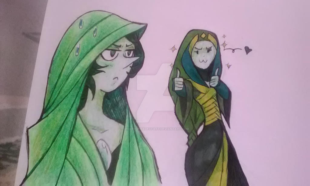 Jade and her Pearl 2 by universeMadeofArt