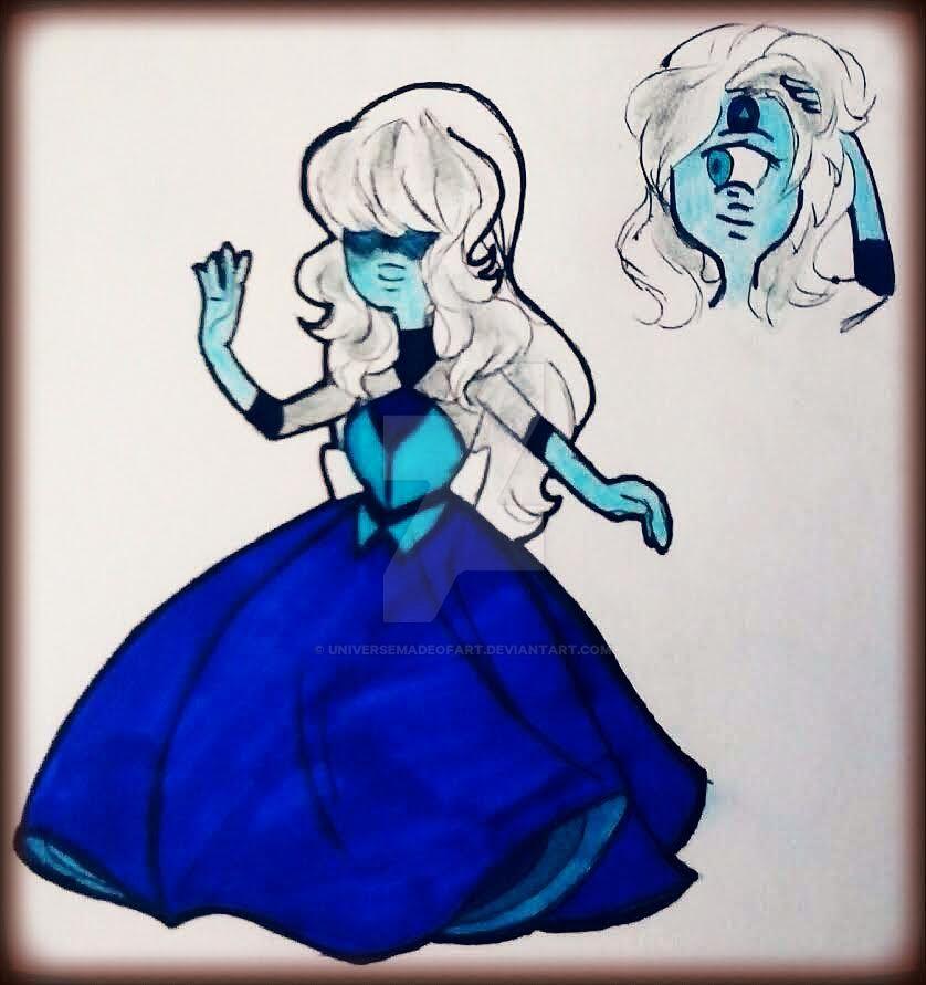 light blue sapphire repostes 18 by universeMadeofArt