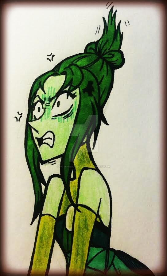 repostes 21 angry green pearl by universeMadeofArt