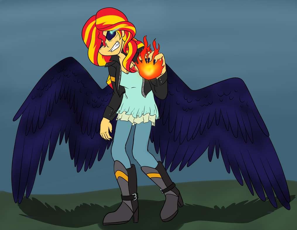 Raven Sunset by catlover1672