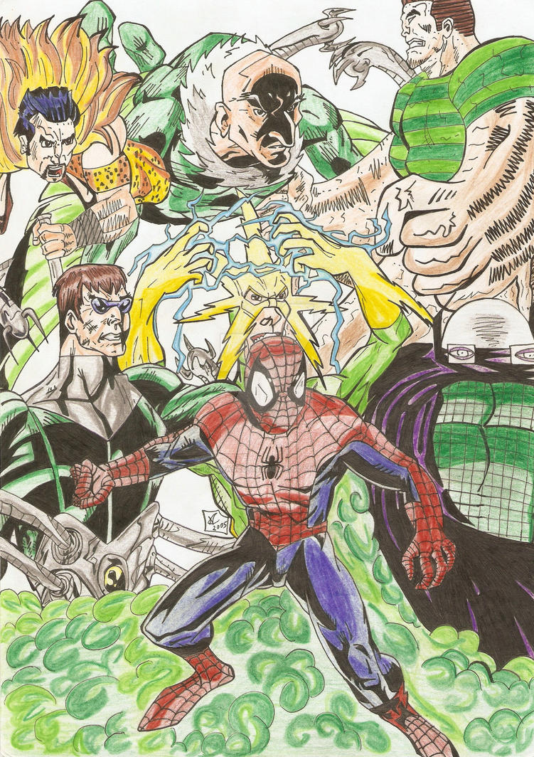 Spider-man vs sinister six by karrasco1189 on DeviantArt