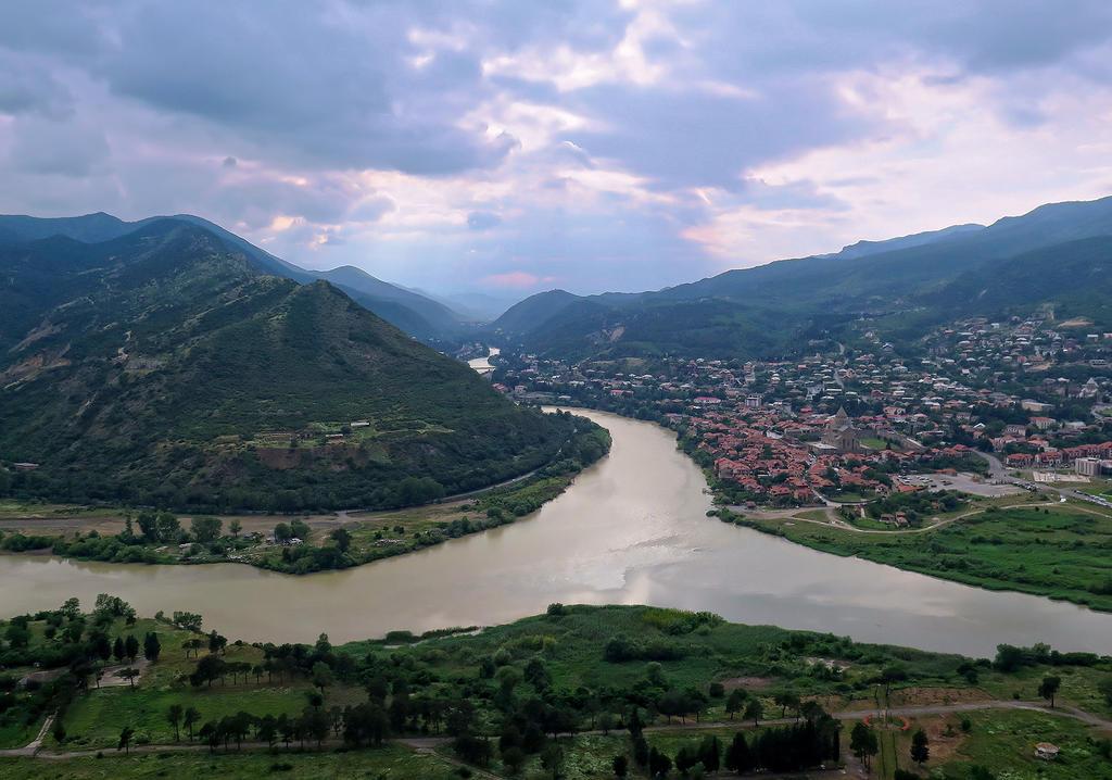 The Merger of Kura and Aragvi Rivers, Georgia by tahirlazim