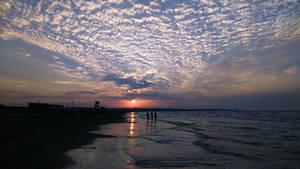 Sunset Over the Caspian Sea