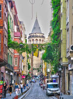 Going to the Galata Tower. Istanbul
