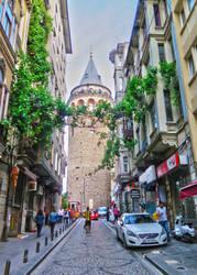 Towards Galata Tower. Istanbul