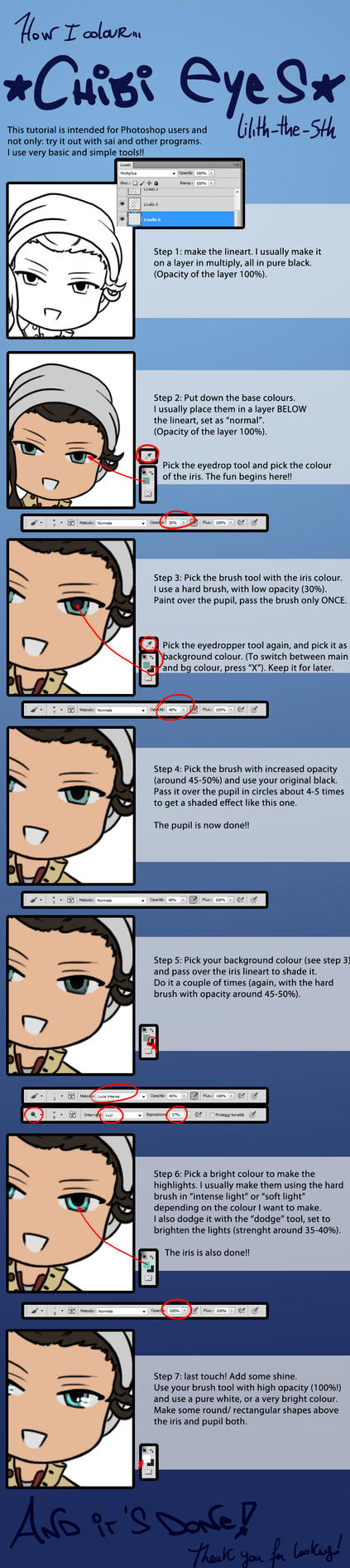 Tips and Tutorials- How I colour my Chibi Eyes by Lilith-the-5th