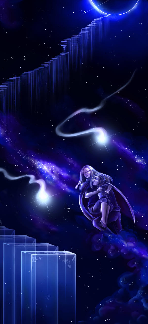 Taking my love through the stars by Lilith-the-5th