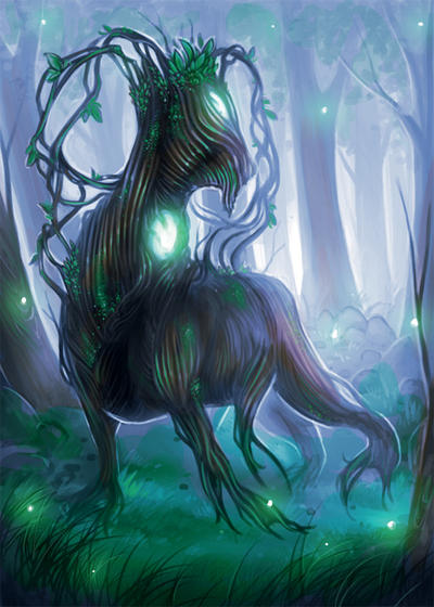 Commission- MTG token- Saproling by LauraGalliArt