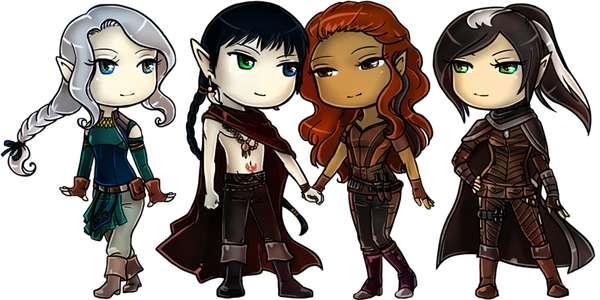 Commission- chibi Alynis Dan'tai Quivyre Eilkhan by Lilith-the-5th