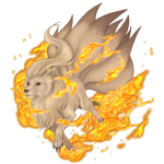 Ninetails used Fire Blitz! by Lilith-the-5th