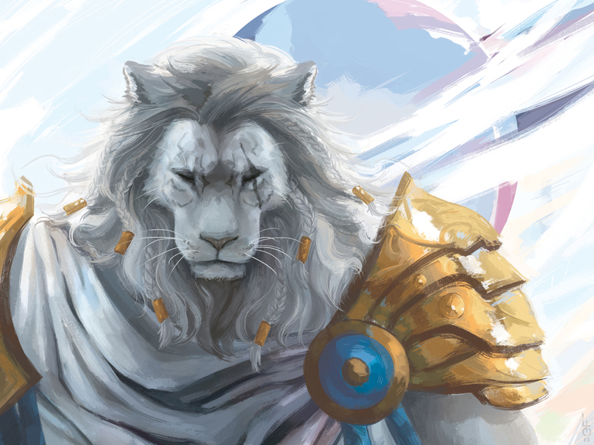 MTG - Ajani - Blind Eternities by Lilith-the-5th