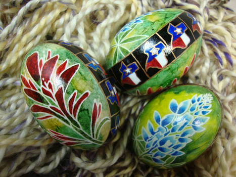 Texas Bluebonnets and Indian Paintbrush Duck Eggs