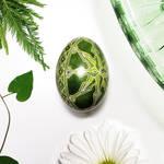 Green Starburst on Duck Egg