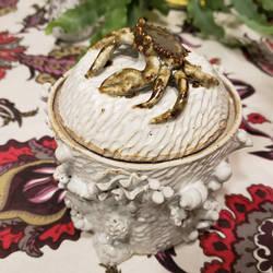 Sea Life Jar with Crab