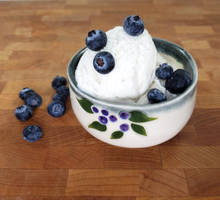 Blueberries and Ice Cream Bowl