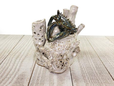 Ceramic Crab Box