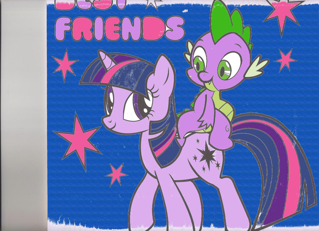 Twilight Sparkle and Spike: Best Friends by Chidi-The-Litleo