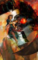 Bioshock Infinite Sketch Red by mprophetDMND
