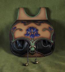 Art Nouveau leather bag