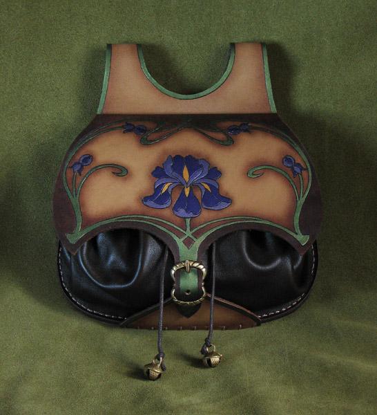 Art Nouveau leather bag by Fantasy-Craft