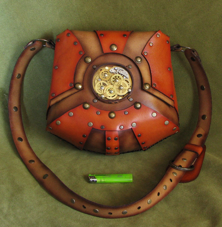 Steampunk leather bag by Fantasy-Craft