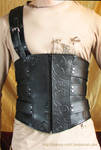 Leather male corset