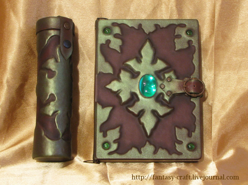 Book Cover Art And Craft : Book cover and scroll holder by fantasy craft on deviantart