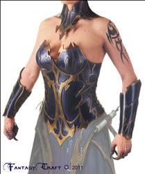 Dark Elf Leather Corset by Fantasy-Craft