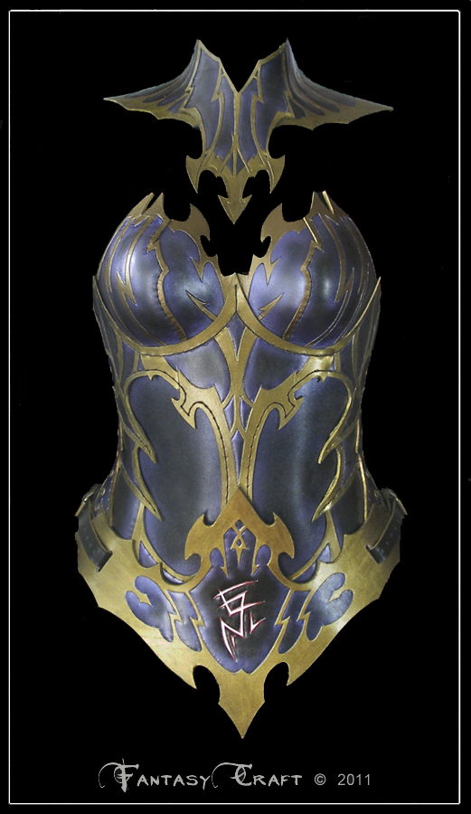 Dark Elf Leather Corset + belt by Fantasy-Craft