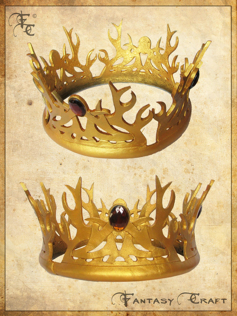 Game of thrones joffrey baratheon leather crown by for Art and craft crown