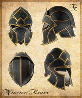 Fantasy leather helmet by Fantasy-Craft