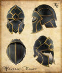 Fantasy leather helmet