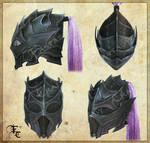 Drow or Dark Elf leather helmet