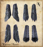 Drow or Dark Elf leather bracers by Fantasy-Craft