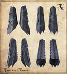 Drow or Dark Elf leather bracers