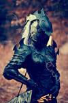 Drow or Dark Elf leather corset  armour