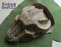 Dragon pauldron mask Skyrim armor